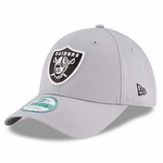 Oakland Raiders New Era 9Forty Grey Logo Cap
