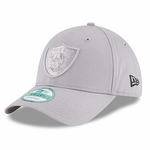 Oakland Raiders New Era 9Forty Grey on Grey Logo Cap