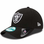 Oakland Raiders New Era 9Forty League Black & White Cap