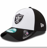 Oakland Raiders New Era 9Forty League White Front Cap