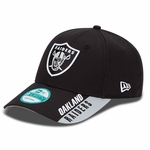 Oakland Raiders New Era 9Forty Visor Text Cap