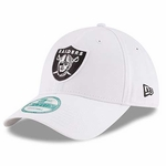 Oakland Raiders New Era 9Forty White Logo Cap