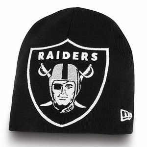 Oakland Raiders New Era Big One Too Knit Hat - Click to enlarge