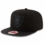Oakland Raiders New Era Black 9Fifty Visor Weave