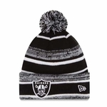 Oakland Raiders New Era Black & White Sport Knit