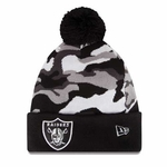 Oakland Raiders New Era Camo Top 2 Knit Hat