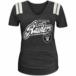 Oakland Raiders New Era Girls Foil Tee