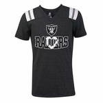 Oakland Raiders New Era Girls Short Sleeve V Tee