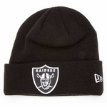 Oakland Raiders New Era Gridiron Black Knit Hat