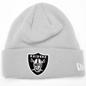 Oakland Raiders New Era Gridiron Grey Knit Hat - Click to enlarge
