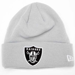 Oakland Raiders New Era Gridiron Grey Knit Hat