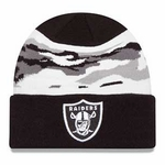 Oakland Raiders New Era Knit Fillz Hat