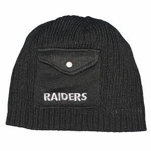 Oakland Raiders New Era Pocket Beanie - Click to enlarge