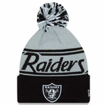 Oakland Raiders New Era Pom Fire Knit
