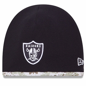 Oakland Raiders New Era Salute to Service Knit Hat - Click to enlarge