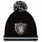 Oakland Raiders New Era Sequin Frost Knit
