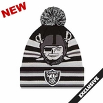 Oakland Raiders New Era Strikethrough Pirate Knit