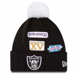 Oakland Raiders New Era Super Bowl Cuffed Up Knit Hat