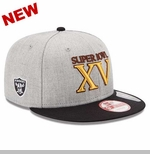 Oakland Raiders New Era Super Bowl XV Patch Snapback