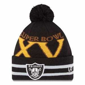 Oakland Raiders New Era Super Wide Point XV Knit Hat - Click to enlarge