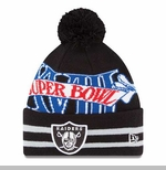 Oakland Raiders New Era Super Wide Point XVIII Knit Hat