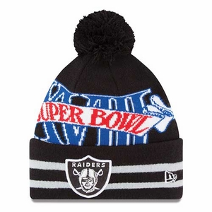 Oakland Raiders New Era Super Wide Point XVIII Knit Hat - Click to enlarge