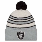 Oakland Raiders New Era Traditional Stripe Knit