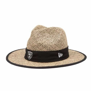 Oakland Raiders New Era Training Camp Straw Hat - Click to enlarge