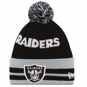 Oakland Raiders New Era Wide Point Knit Hat - Click to enlarge