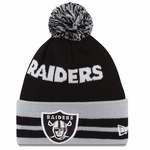 Oakland Raiders New Era Wide Point Knit Hat
