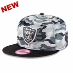 Oakland Raiders New Era Women's 9Fifty Camp Snap Luster Cap