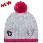 Oakland Raiders New Era Womens 2015 Breast Cancer Awareness Knit