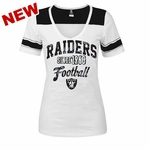Oakland Raiders New Era Womens Athletic V Tee