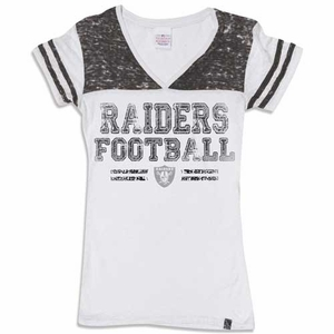 Oakland Raiders New Era Womens Faded Burnout Tee - Click to enlarge