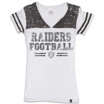 Oakland Raiders New Era Womens Faded Burnout Tee