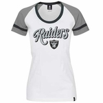 Oakland Raiders New Era Womens Foil Tee