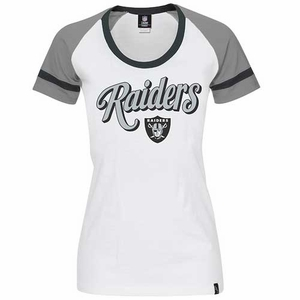 Oakland Raiders New Era Womens Foil Tee - Click to enlarge