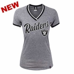 Oakland Raiders New Era Womens Opening Tri Blend Jersey Tee