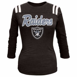 Oakland Raiders New Era Womens Sparkle Shield Tee - Click to enlarge