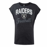 Oakland Raiders New Era Womens Tri-blend Muscle Tee