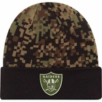 Oakland Raiders New Era Woodland Camp Print Play Knit