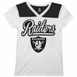 Oakland Raiders New Era Youth Sparkle Tee - Click to enlarge