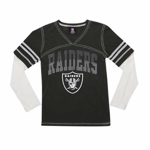 Oakland Raiders New Era Youth Twofer Long Sleeve Tee - Click to enlarge