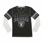 Oakland Raiders New Era Youth Twofer Long Sleeve Tee