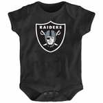 Oakland Raiders Newborn Black Logo Onesie