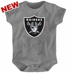 Oakland Raiders Newborn Steel Logo Onesie