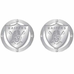 Oakland Raiders NFL Crystal Post Earrings