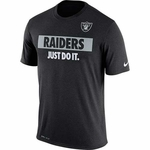 Oakland Raiders Nike 2016 Just Do It Black Tee