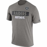 Oakland Raiders Nike 2016 Just Do It Grey Tee