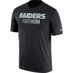 Oakland Raiders Nike All Football Legend Black Tee
